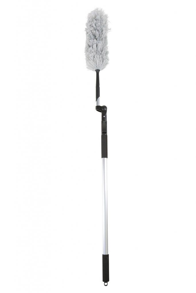 Plumeau / kastborstel microvezel met telesteel