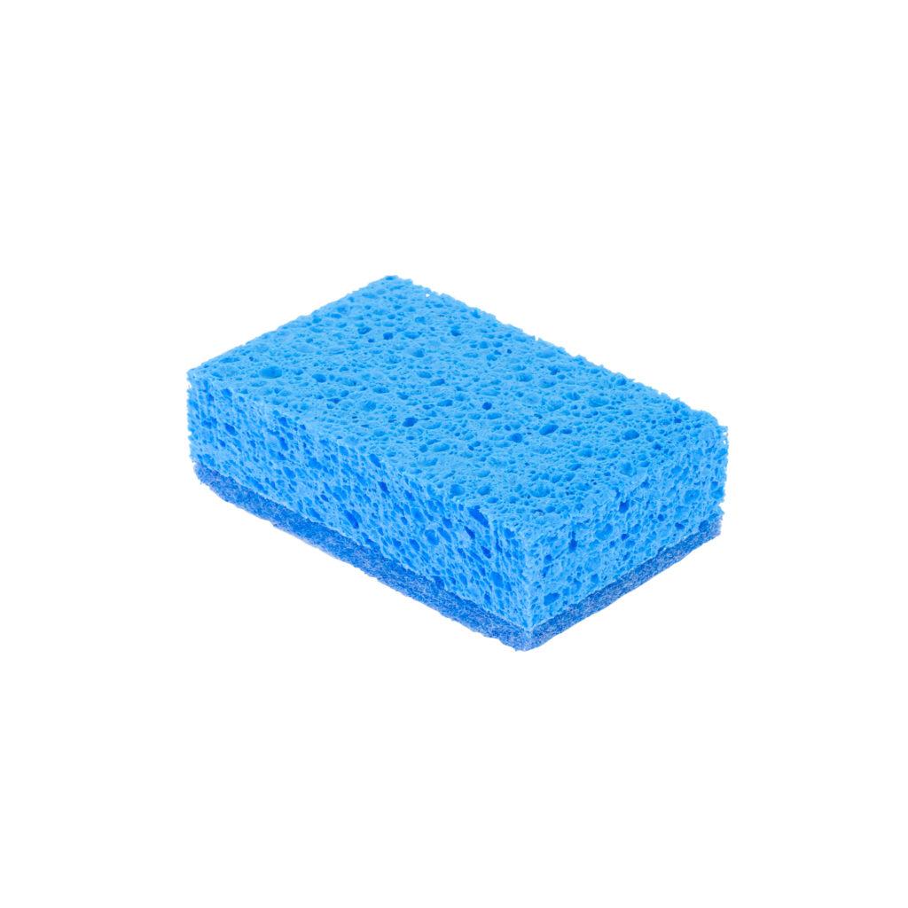 Viscose Sanitairspons blauw vlies