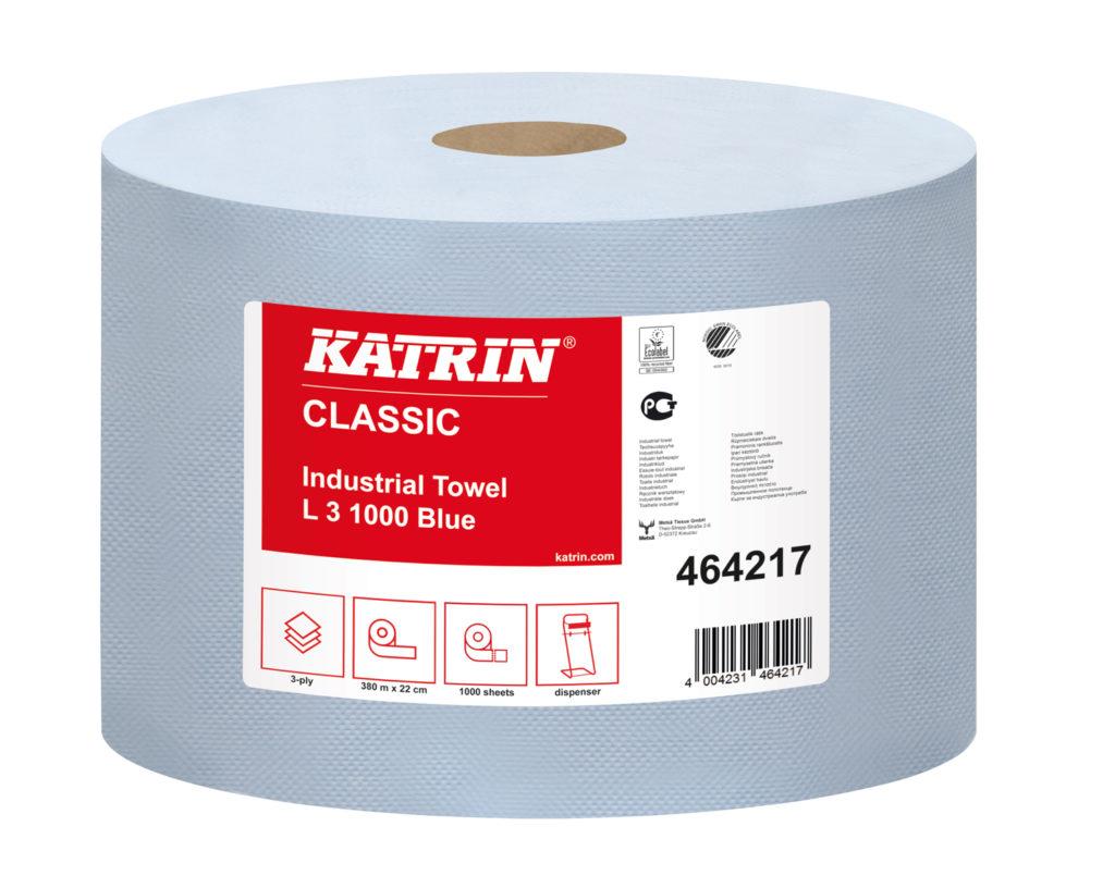 Katrin industrierollen Classic L 3 Blauw